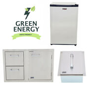Lion Bbq Combination Door/drawer, Ice Chest And Refrigerator Package Deal