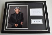 Paul Carrack Signed Framed Photo Autograph 16x12 Display Music Aftal And Coa