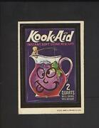 1973 Topps Wacky Packages Kook Aid Ludlow Back 1st Series Sticker Rare