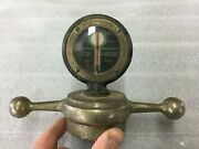 Solid Brass Boyce Motometer Huge Dog Bone 1910and039s 1920and039s 1930and039s Vintage Radiator