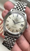 Vintage Omega Seamaster Chronometer Certified Automatic Silver Dial Watch