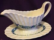 Copeland Spode Valencia Wedgwood Stamp 1248 Gravy Boat Attached Plate