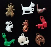 Lot 1940andrsquos-60and039s Vintage Cracker Jack Celluloid Metal Prize Charms Animal