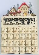Ridgefield Home Led Advent Calendar Christmas Laser Cut Lights Up With Battery