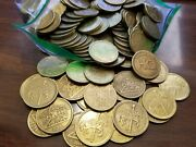 Carousel Token Lot Of 50 Brass Tokens - Collector, For Jewelry. Etc. 0.984