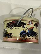 Old Fashioned Metal Savings Bank With 3 Take-apart Old Time Autos By B Shackman