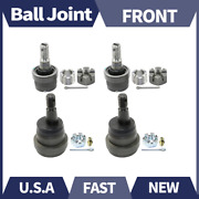 Set Of 4 Moog Front Upper+lower Ball Joint Set Kit Fits 1984-1989 Jeep Cherokee