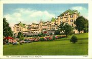 Postcardeagles Mere, Pa.the Lakeside Hotel And Gardensscenic Viewc1939