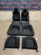 2017 Ford Mustang Gt Oem Black Cloth Seats Coupe Front Rear -blown Bag-