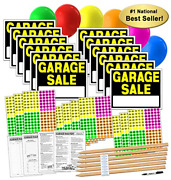 Garage Sale Yard Signs Sign Kit With Pricing Stickers And Wood Stakes A808g