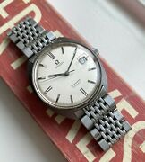 Vintage Omega Seamaster Cosmic Manual Wind Silver Roman Numeral Dial Steel Watch
