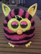 2012 Furby Boom Hot Pink And Black Zebra Stripes Electronic Interactive Toy Tested