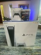 Sony Playstation 5 Disc Bundle Dualsense Controller/spiderman Game New Sealed