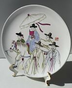 Rare Vintage Hand Painted Chin Heung Wall Plate From Korea