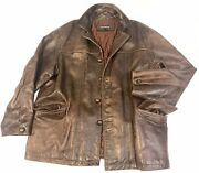 It Won't Go Any Lower Buy It Now Oakwood Antique Brown Leather Jacket Xl