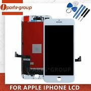 For Iphone 8 Plus Lcd White Replacement Screen Digitizer 3d Touch Assembly Frame