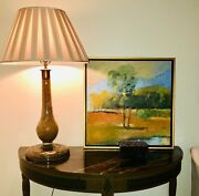 Landscape Art Abstract Oil Painting Golf Course Great Condition-framed