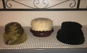 Lot Of 3 Vintage Women's Hats Midcentury 1940's And 1950's