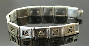 Moma Ny Frank Lloyd 14k Yellow Gold Accent Sterling Silver 7 Panel Bracelet