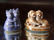 Wade Whimsies Best Friends Set Of 2 Puppies And Kittens Exc. Cond.