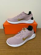 Nike Womenand039s Free Rn 2018 Running Shoes Plum Chalk Metallic Gold 942837-501 New