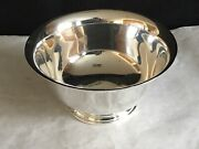 Vintage Manchester Sterling Silver Footed Bowl Reproduction Of Paul Revere 878