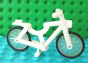 New Lego Lot Of 1 Minifigure White Bike Bicycle Cycle Friends City Riding Fun