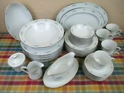 Style House Fine China - Lot 46 Pieces Corsage Pattern With Blue Flowers