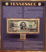 United States Enhanced 2 Dollar Bill And Quarter Collection Tennessee State