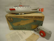 Vintage Germany Submarine Dolphin Battery Remoted Controled Toy Ddr 70s + Box