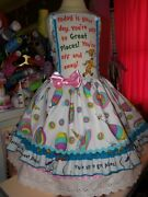 Oh The Places You Will Go Vintage Fabric Christmas Dress Size 5t