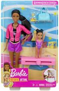 Barbie Gymnastics Dolls And Playset With Brunette Coach Barbie Doll Brunette Small