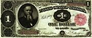 Reproduction 1.00 Dollar Stanton 1891 United States Of America Treasury Note
