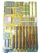 Mb 2120141-at4428c Motherboard + Intel I486 Dx 33mhz A80486dx-33 Cpu + 128mb Ram