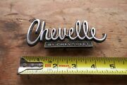Vintage Used Chevelle By Chevrolet Emblem Good Studs Few Pits 9728248 1660603