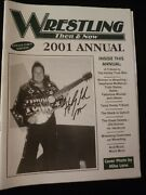 Wrestling Then And Now Bulletins X 8 Wwf Nwa Awa 1997-2003 Honky Tonk Signed 2001