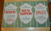 3 Vintage Shoes Shoe Store Signs Rare Excellent 6 X 11 Inches