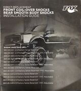 Dodge 94+ Fox Shocks 2.5 -front Coil Over And Rear Shocks