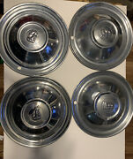 1951 1952 Plymouth Road Runner Hubcap Satellite Complete Set 4 Hubcaps Vintage