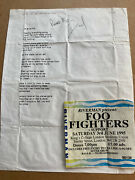 Dave Grohl 1995 Autographed Lyric Sheet From 1st Uk Foo Fighters Gig Please Read