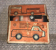 Nylint Uhaul Pickup Truck And 2 Trailers Pressed Steel Toy 1960and039s With Box.
