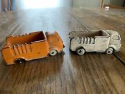 Two Vintage Auburn Rubber Corp Toy Truck 🚚