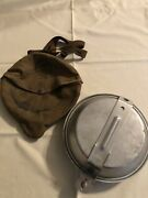 Vintage Boy Scout Official Mess Kit With Carry Pouch