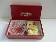 Gorham Vintage 1980and039s Althea Full Lead Crystal 4 Inch Bowl With Soaps-nib