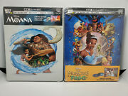 Moana 4k + The Princess And Frog 4k+blu-ray 2x Best Buy Exclusive Steelbooks