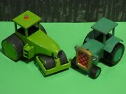 Racing Champions Metal Green Tractor And Steam Roller 1998 Bob The Builder Chapman