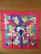 Hermes Chapeau Multicolor Carre 90 100 Silk Scarf M17090954260 From Japan