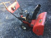 Mtd Yard Machine 8/24 Snow Blower Works Well Serviced And In Storage Now 2 Year