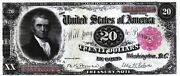 Reproduction 20.00 1891 Treasury Note United States Of America Note Bill