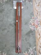 Antique 19th Century Or Earlier American Laboratory Stick Barometer Thermometer